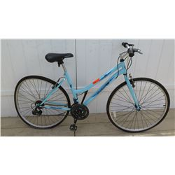 Roadmaster Adventures 700C Women's Blue Hybrid Bike w/ Bent Back Rim