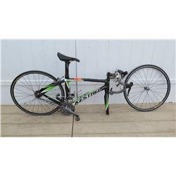 Kestrel Black Green Men's Bike w/ Front Wheel Removed
