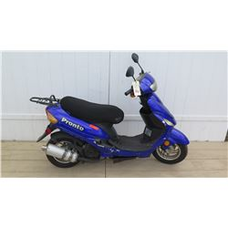 2014 Pronto Taizhou Zhongneng Motorcycle Black Blue Moped 8866 Miles w/ Carrier