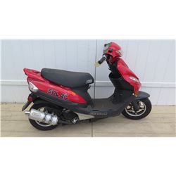Bravo Soleil GT Red Power 4 Stroke Moped 846 Miles