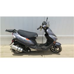 2016 Bravo Soleil GT Black Silver Power 4 Stroke Moped 1078 Miles w/ Carrier - Rear Wheel Locked