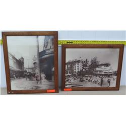 Framed Art - Vintage Black and White Photographs