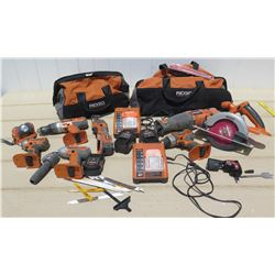 Tools - Rigid Power Tools: Saws, Drills, Lights. Chargers, Bags, Etc