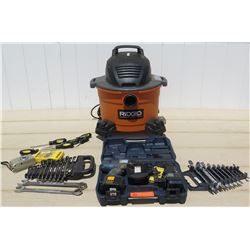 Tools - Ridgid ShopVac, Dewalt Drill, Digital Camera, Assorted Hand Tools