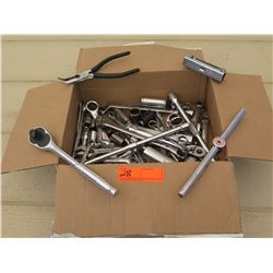 Tools - Box of Various Ratchets and Wrenches