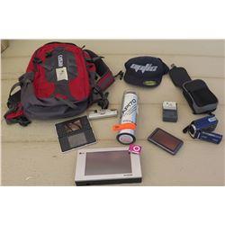 Electronics - LG AC Smart Controller, Garmin Navigator, Ipod Shuffle, JVC Camcorder, Camelpak and Mi