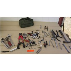 Tools - Assorted Tools: Ratchets, Wrenchs, Wire Cutters/Strippers