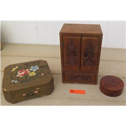Collectibles - Painted/Carved Wood Boxes