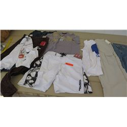 Clothing - Most w/Tags, Mens Quicksilver Khaki/Red Pants sz 32, Mens Quiksilver & Oneill Boardshorts