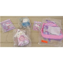 Kids Hello Kitty Back Pack and School Supplies