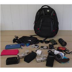 Electronics - Sony X5100 Camera, Nikon Coolpix, Two Canon Digital Cameras, Lumix ACVHD Lite Camera,