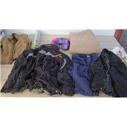 Clothing - Mens Columbia Black Coat size XL, Beyond Clothing Tan Coat, Levi's Demin Jacket size M, C