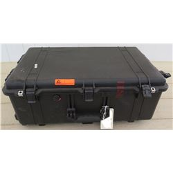 "Large Black Rolling Hard Case, Approx 19""x31"""