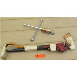 Tools - Large Cresent Wrench, Large Pry Bar, Socket Extentions