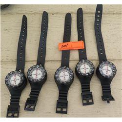Scuba Gear - 5 Wrist Compasses