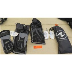 Scuba Gear - Three Pairs of Aqua Lung Scuba Lungs size S, M, L (has tags)