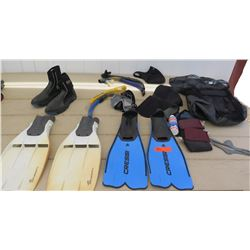 Cressi and TurboflexSP Fins, Water Shoes, Snorkel Gear