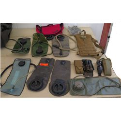 Soft Canteens, Camel Paks, Folding Shovel, Safety Glasses