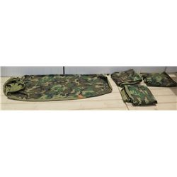 Qty 4 Military Issue Camo Sleeping Bags