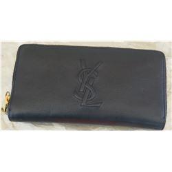 Black Yves Saint Laurent Zippered Wallet