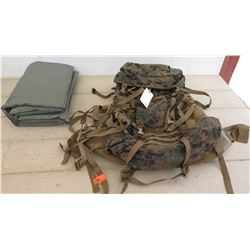 ILBE Military Backpack w/Sleeping Pad