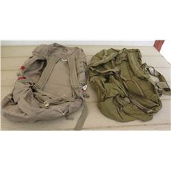 Two Backpacks - Khaki and Olive, Task Force and Eagle