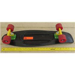 Penny Skateboard - Black Deck, Red Wheels