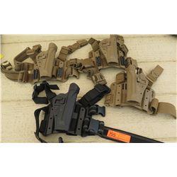 4 Black Hawk Handgun Holsters