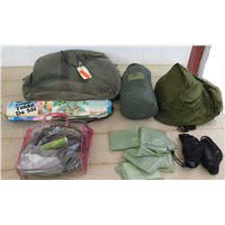 Military Gear - MRE Heaters, Camelbak Packs, Eureka Tent