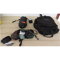 Black Hawk Backpack, Wiley X Glasses, Clothing, Rope, Socks, etc.
