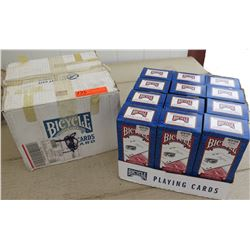 Bicyle Brand Playing Cards - 12 Boxes (each box has 12 decks), Half Red/Half Blue