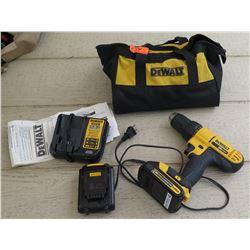 Tools - 20V Dewalt Cordless Drill w/ 2 Batteries, Charger & Bag