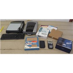 Texas Instruments TI-84Plus Calculator, Paper Cutter, Scanner, etc.