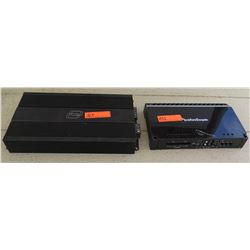 Car Audio - Digital Designs M2A and Rockford Fosgate Punch P500-4 Car Stereo Amps