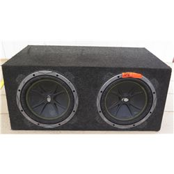 Car Audio - Kicker Subwoofer w/ 2 Comp Speakers