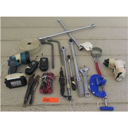Tools - Vice Grip, Pipe Cutter, Makita Flashlight, etc.