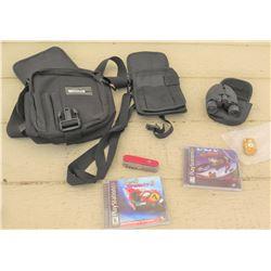 Playstation Games, Binoculars, Pocket Knife, etc.