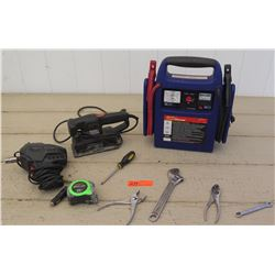 Tools - 12V Drive Impact Wrench, Black & Decker Sander, Power Station, etc.