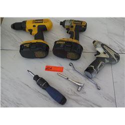 Tools - Dewalt DC970 Drill, Dewalt DC827 Impact Driver, Makita TD090D Drill, etc.
