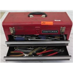 Tools - Craftsman Toolbox w/ Wrenches, Screwdrivers, Vice Grips, etc.