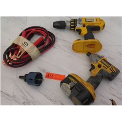 Tools - Dewalt DC925 Hammer Drill, Dewalt DW056 Impact Driver, etc.