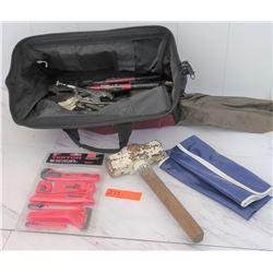 Tools - Tool Bag w/ Hammer, Vice Grips, etc.