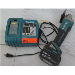 Tools - Makita XAG03 Grinder w/Battery & Charger