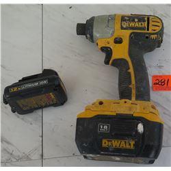 Tools - Dewalt DC827 Impact Driver w/ 2 Batteries