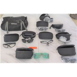 Ballistic & Safety Glasses w/Cases & Patagonia Bag