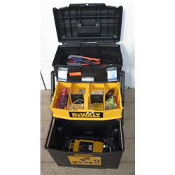 Tools - Dewalt Rolling Tool Box w/ Misc Hand Tools & CAT CPI1000 Inveter