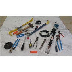 Tools - Makita Grinder, Crowbar, Pliers, etc.