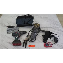 Tools - Bosch Drill, Skil Grinder, MaxiScan Code Reader, etc.