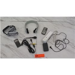 Electronics - Sony Video Camera, iPod 4Gig, Headphones, etc.
