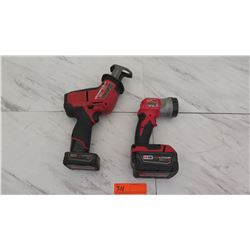 Tools - Milwaukee Hackzall Reciprocating Saw and Milwaukee Flashlight